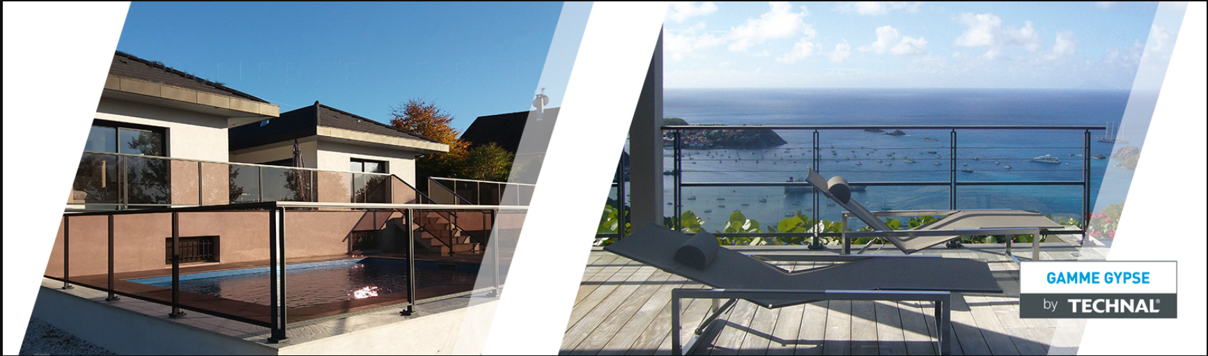 Twin post aluminium balustrade